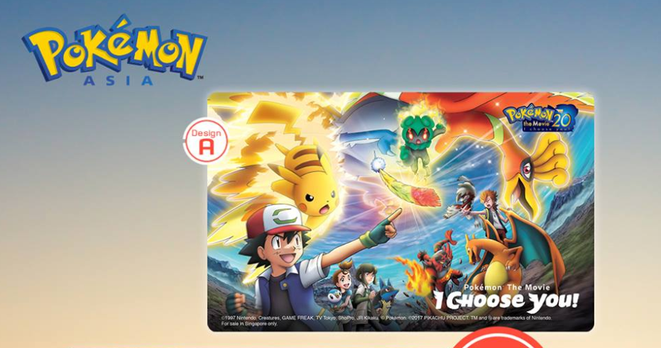 Pokemon EZ-Link Cards Now On Sale In Singapore